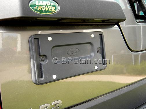 Land Rover LR3 Genuine OEM Factory License Plate Bracket Holder