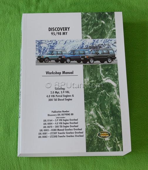 land rover discovery factory genuine oem workshop repair manual rh bputah com discovery 3 workshop manual discovery workshop manual td5
