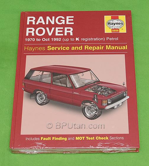 Haynes Repair Manual For Range Rover Classic